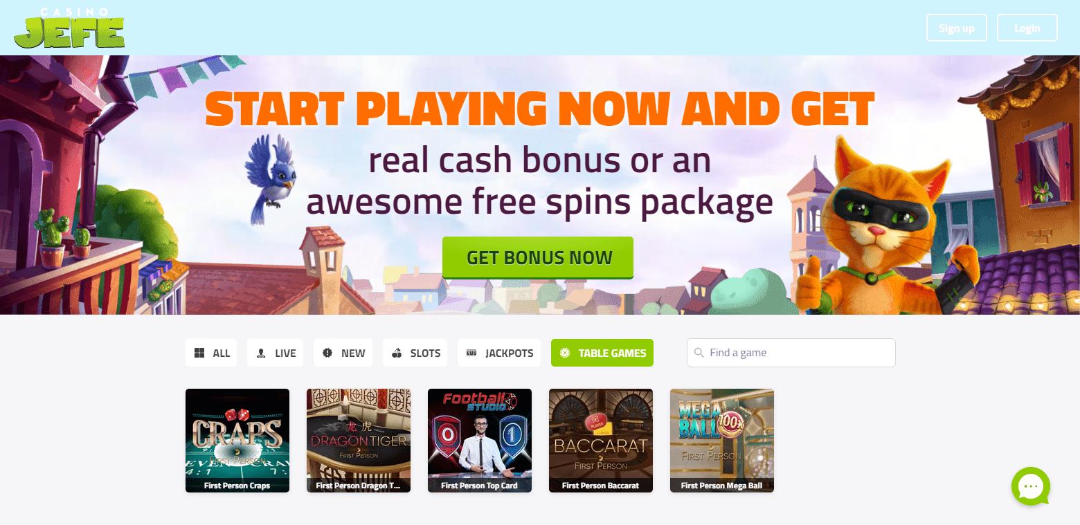 Casino JEFE korttipelit