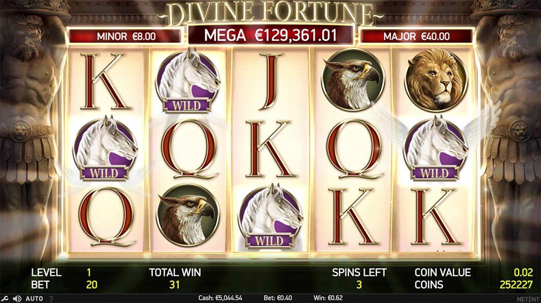 Divine Fortune peliruutu