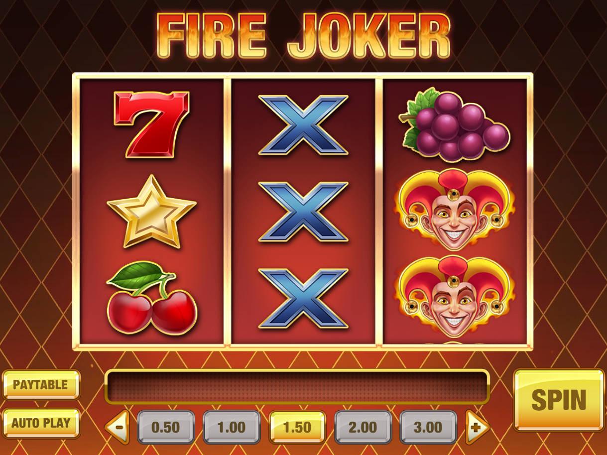 Fire Joker peliruutu
