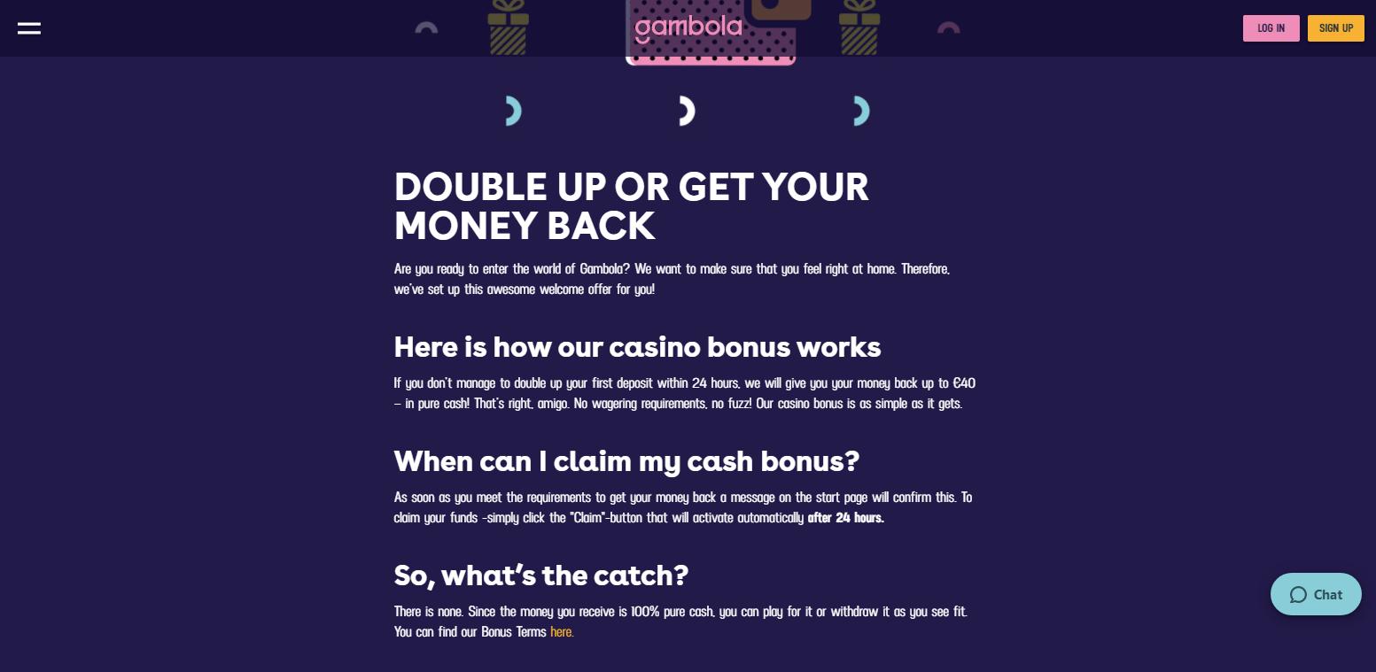 Gambola Casino Bonukset