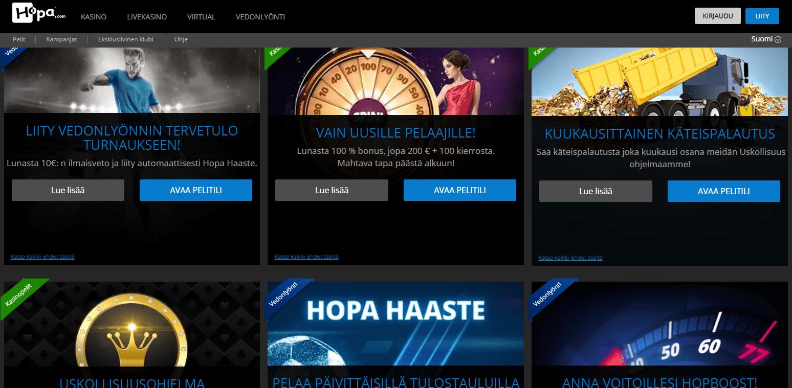 Hopa Casino Bonukset