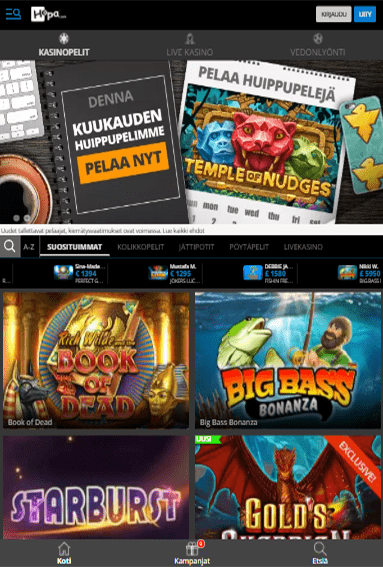 Hopa Casino tabletilla