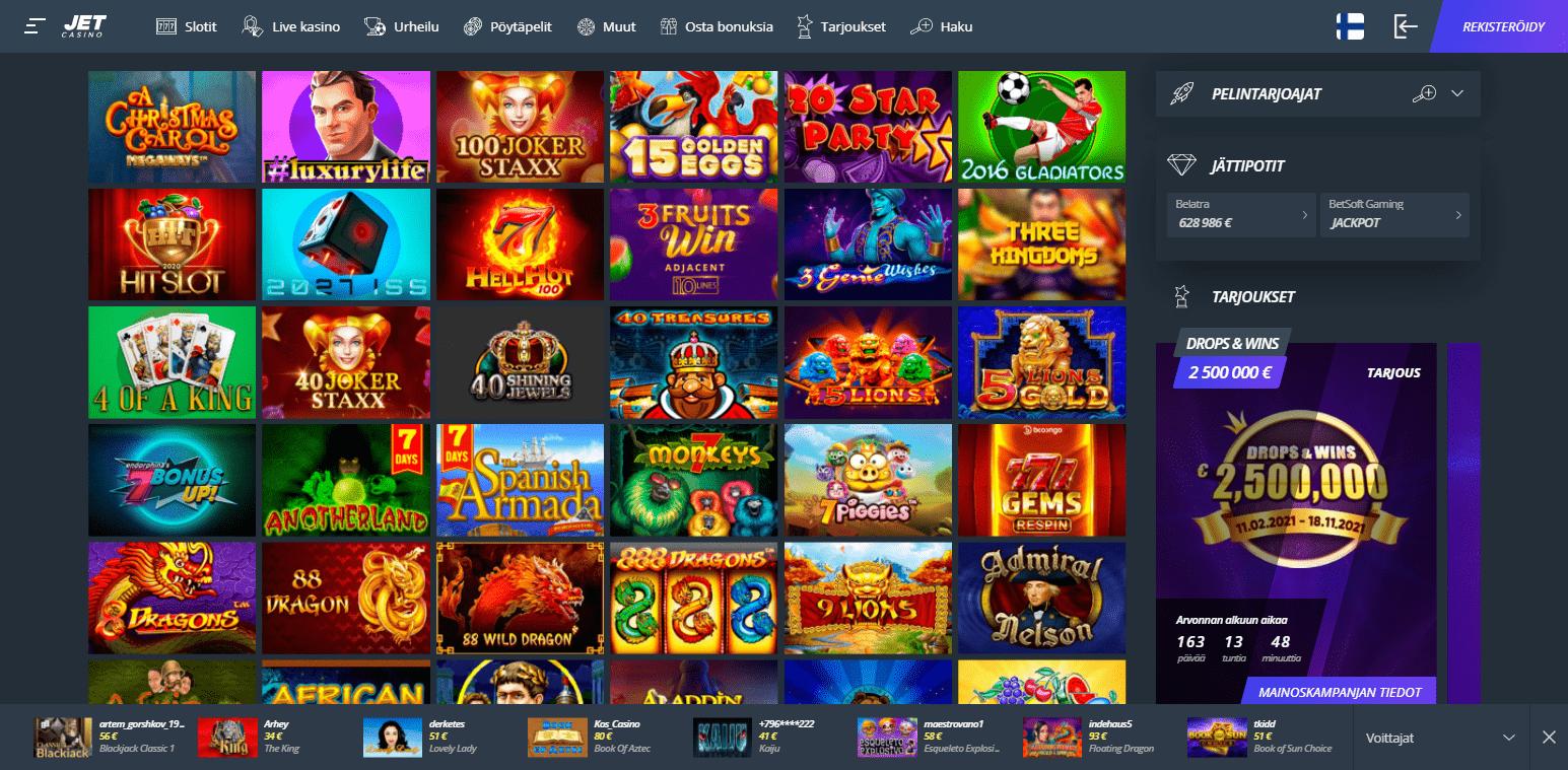 Jet Casino korttipelit