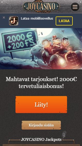 Joy Casino mobiili