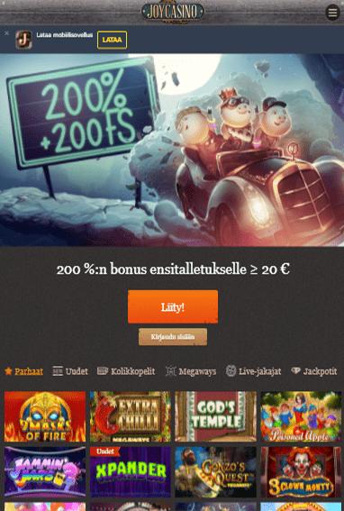 Joy Casino tabletilla