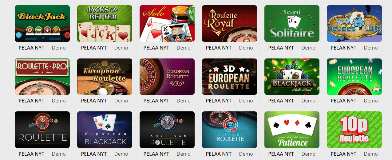 karjala Casino korttipelit
