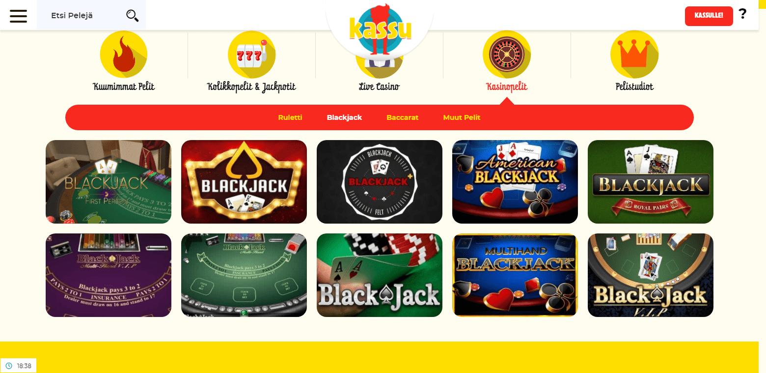 Kassu Casino korttipelit