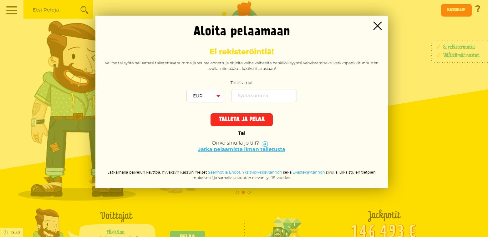 Kassu Casino rekisteröinti