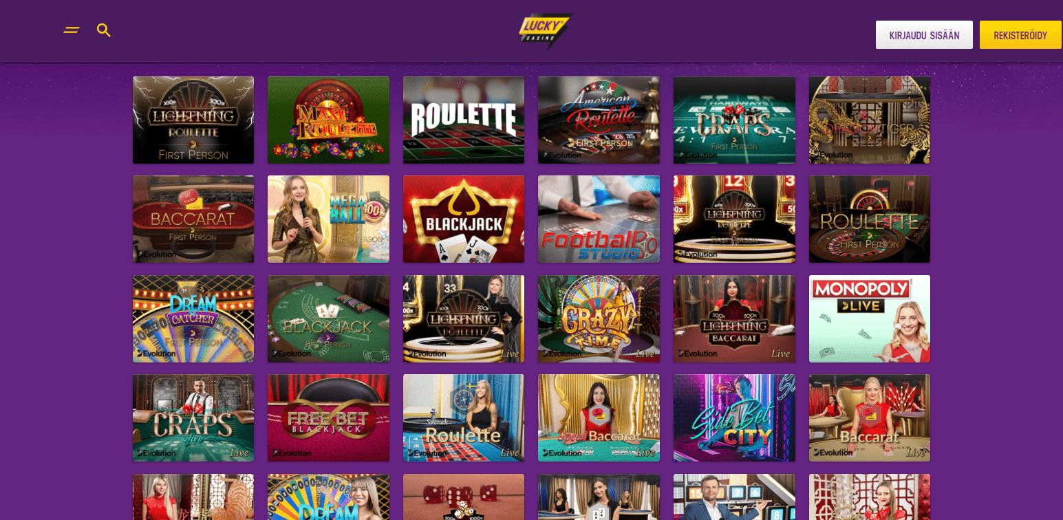 Lucky Casino - korttipelit verkossa