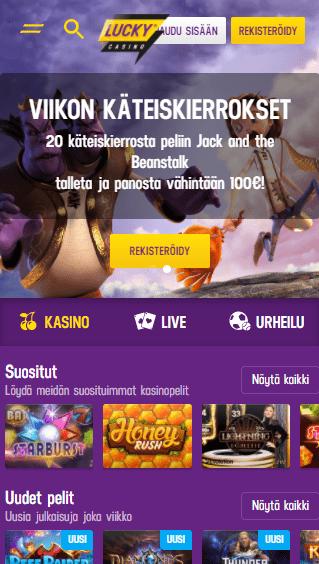 Lucky Casino mobiili