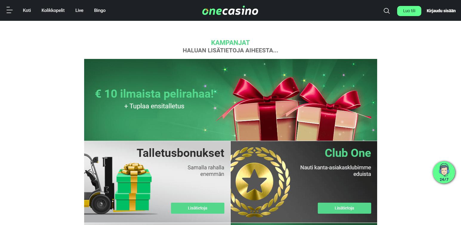 One Casino Bonukset