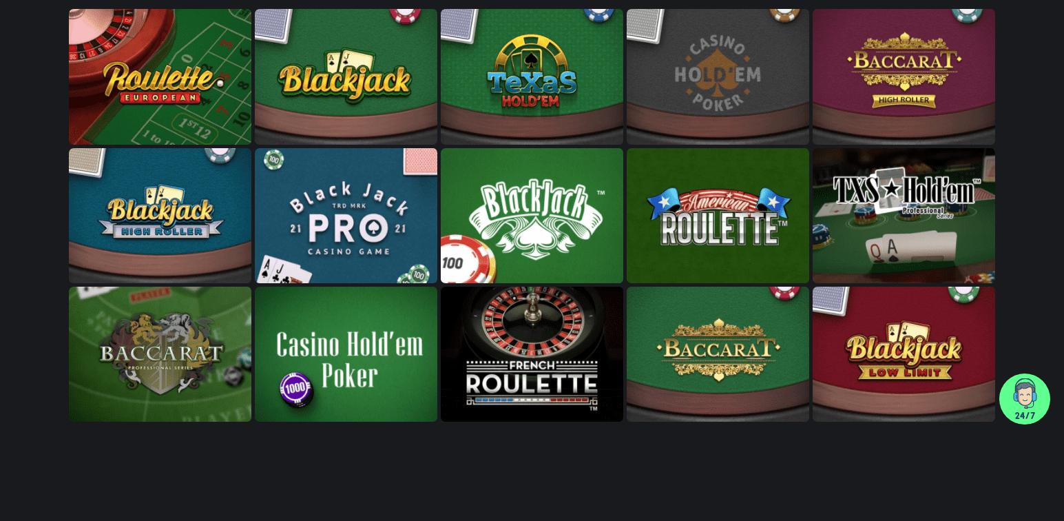 One Casino korttipelit