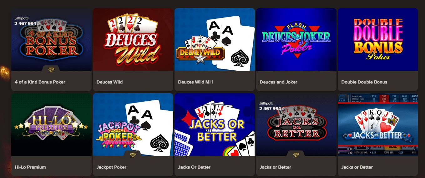 Sol Casino korttipelit