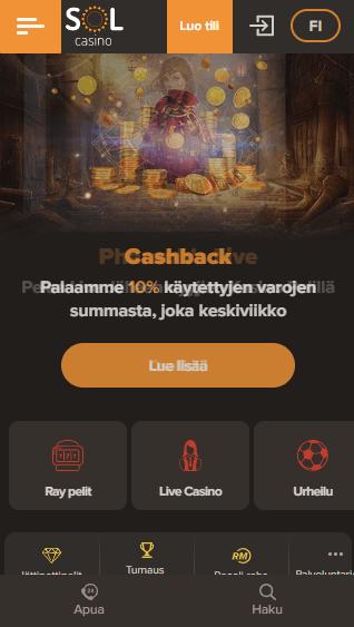 Sol Casino mobiili