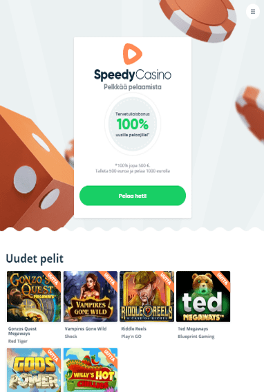 Speedy Casino tabletilla
