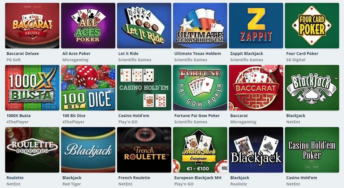 SpeedyCasino korttipelit