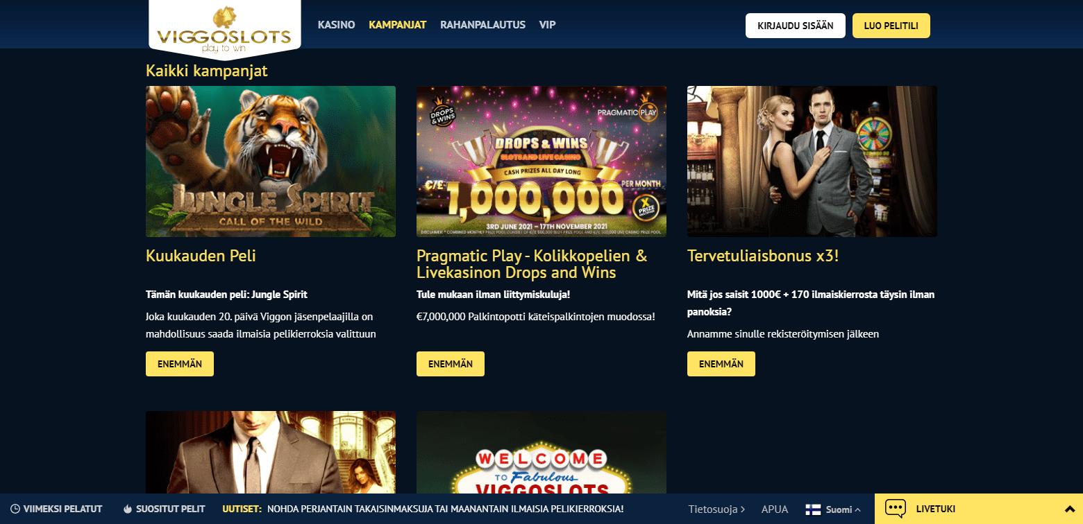 Viggoslots Casino Bonukset