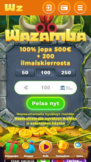 Wazamba Casino mobiili