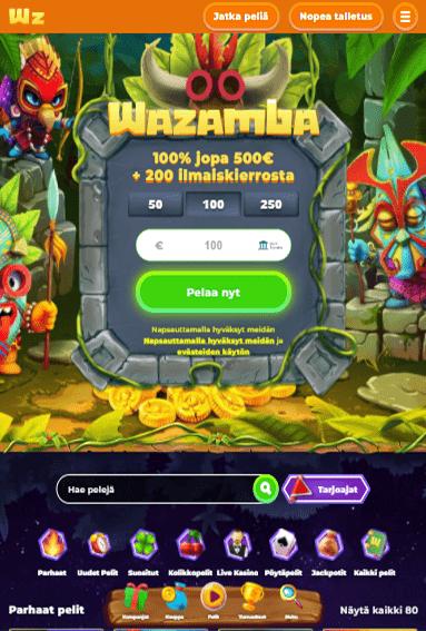 Wazamba Casino tabletilla