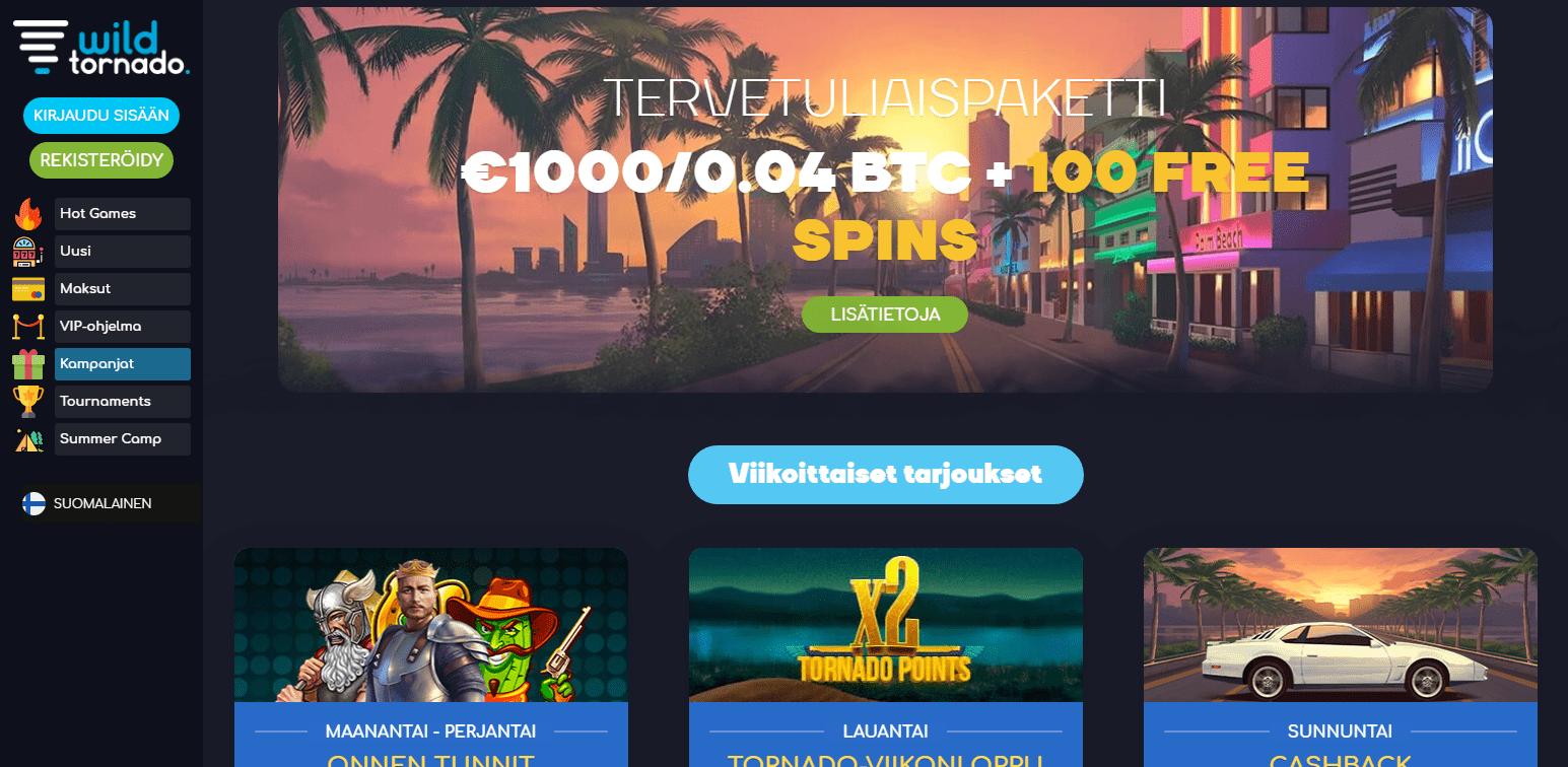 WildTornado Casino Bonukset