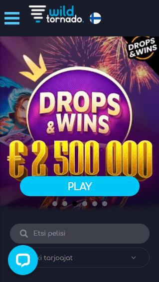 WildTornado Casino mobiili